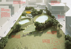 SMAR Architecture Studio Projects Work International Competition Architecture Sydney Aquatic Center and Gunyama Park Landscape