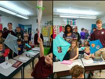 Geometry Class Designs Kites for Kindergartners