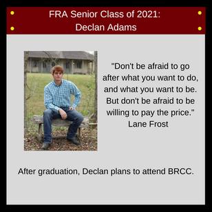 FRA Class of 2021 Senior Spotlights