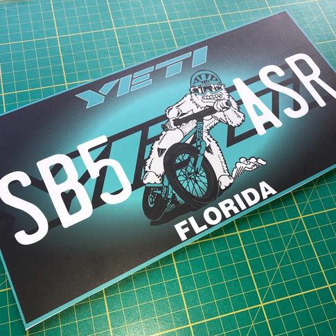 Yeti License plate