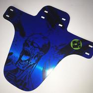 Brushed metallic blue