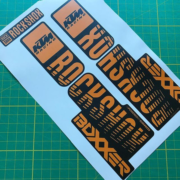KTM downhill custom Boxxer decals #dh #d