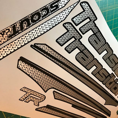 Transition Scout FRAME DECALS