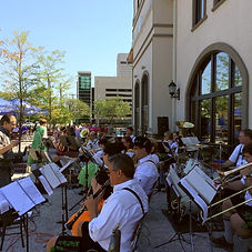 German Music Society (Band) playing outside of Hofbrauhaus Cleveland.