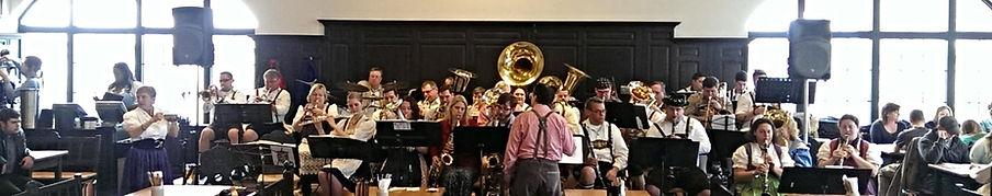 German Music Society (Band) playing inside at Hofbrauhaus Cleveland.