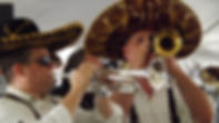 Two trumpet players in sombreros.