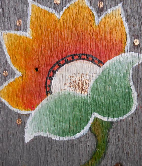 orange folk flower