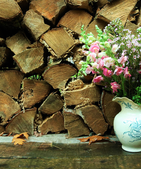 flowers and firewood