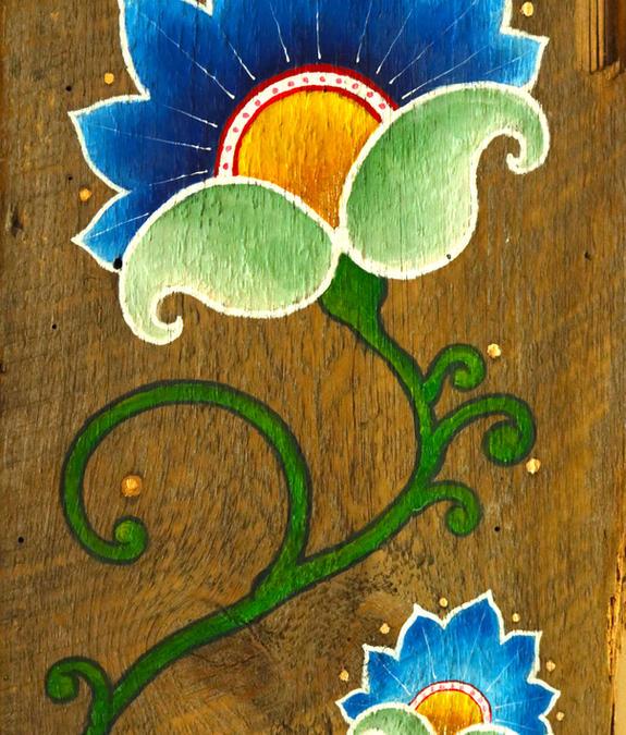 blue folk flower