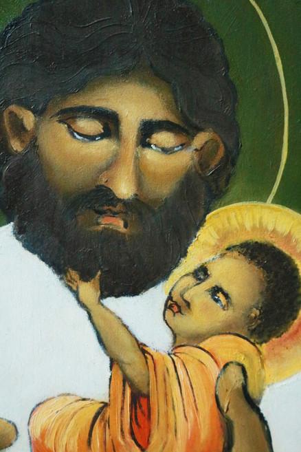 St. Joseph and Baby Jesus, detail