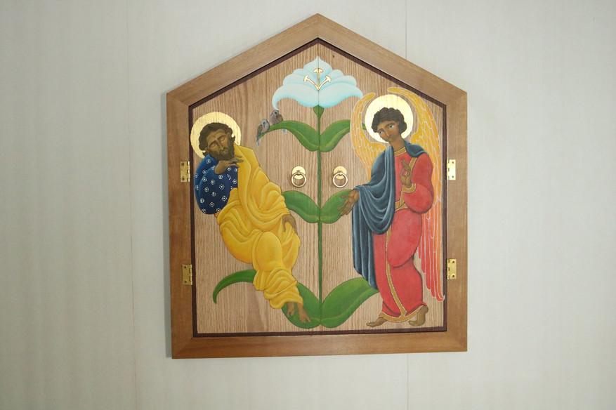 tabernacle doors at St. Joseph's Church, Farmington Maine