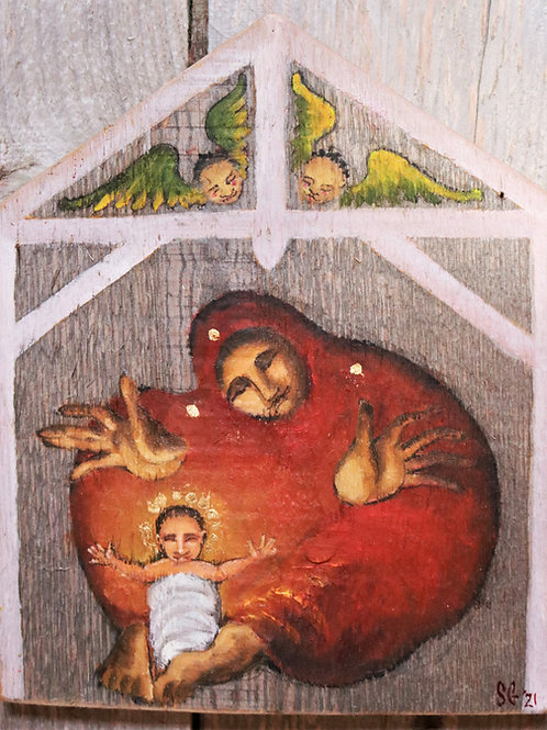 Nativity, Oil Painting