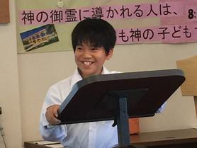 6月24日 バプテスマ式と中学生によるディヴォーション