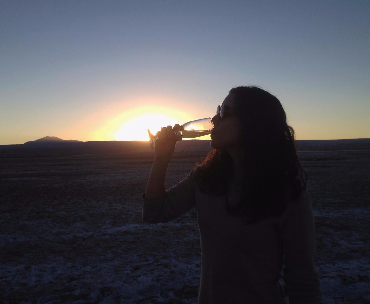 Pôr do sol na Laguna Tebenquiche