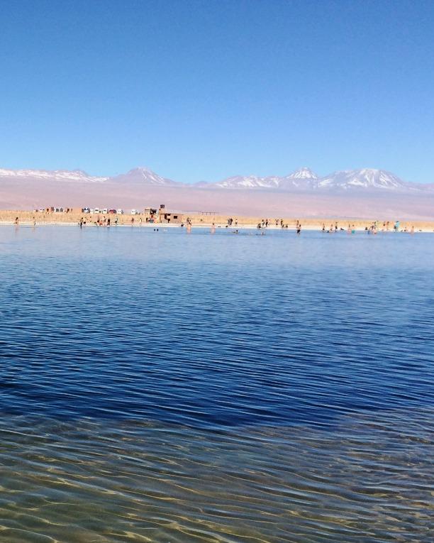 Laguna com alta concentração de sal