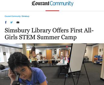 Simsbury Girls STEM Institute (GSI) featured in Hartford Courant!