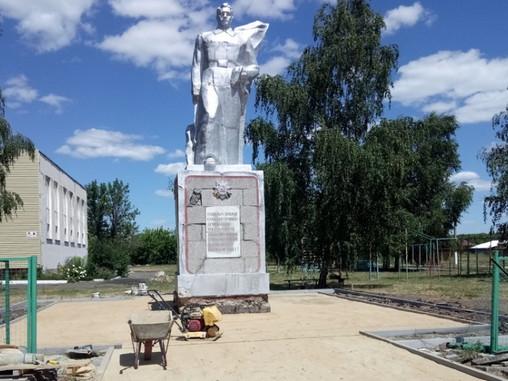 В борисоглебском селе Ульяновка отремонтируют памятник участникам ВОВ