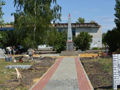 В воробьевском селе Лещаное реконструируют памятник погибшим в годы ВОВ односельчанам