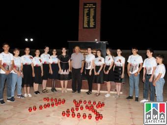 Свечи памяти зажгли школьники Сулейман-Стальского района