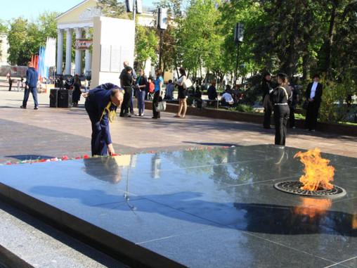 В Белгороде активисты восстановили памятник на могиле ветерана ВОВ