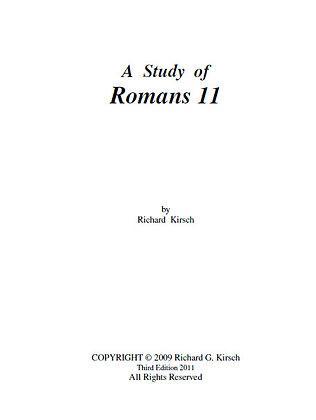 848 A STUDY OF ROMANS 11