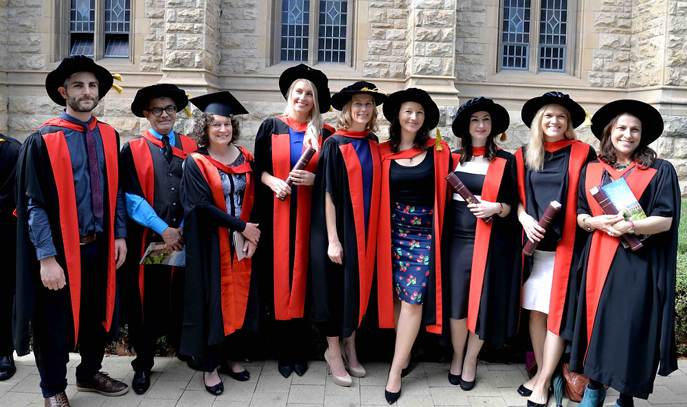 Graduates and advisors from ACAD and Marine groups