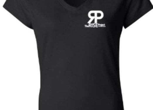 Ladies V-Neck Small Logo Shirt