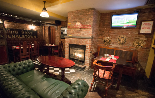 Bar with Fireplace in NYC