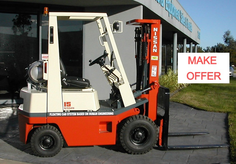 NISSAN 1500KG CONTAINER MAST FORKLIFT
