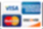 Visa, American Express, Master Card, Discover Card