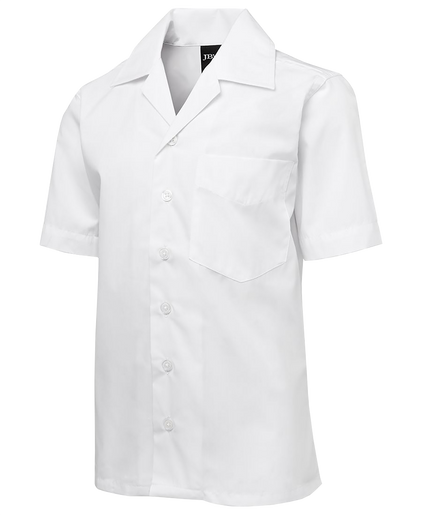 65% Polyester 35% Cotton Poplin  Traditional two-piece collar and fold placket  Double back yoke with 2 inverted pleats  One reinforced front chest pocket  Easy care fabric  Straight hem with side splits  2 front princess lines  measurement guide  Classic Fit