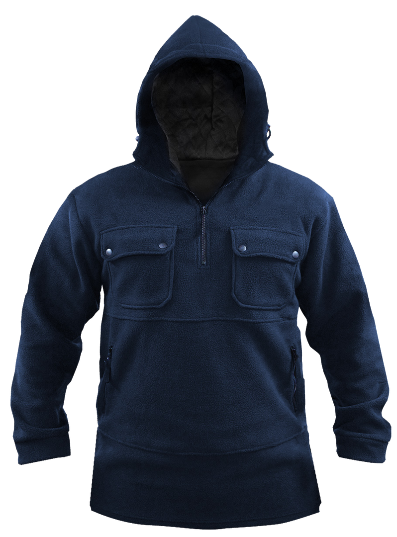 Navy Bush Fleece Hood