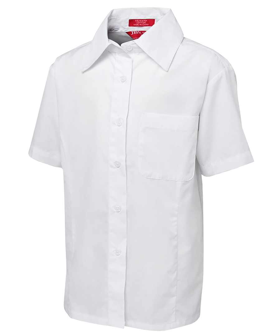 65% Polyester 35% Cotton Poplin  Classic fit with the Flat collar  Reinforced front chest pocket  Straight hem with side splits  Easy care fabric  measurement guide  Classic Fit