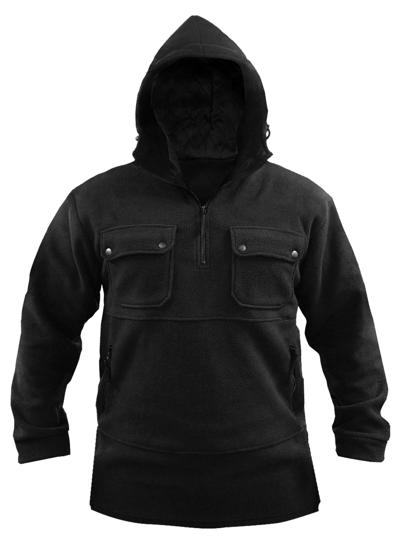 Black Bush Fleece Hood