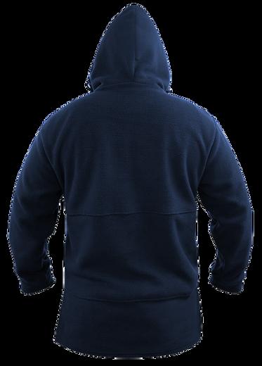 Navy Bush Fleece Hood