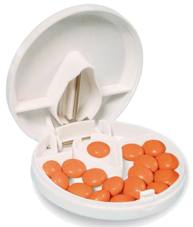 Compact Pill Box with Cutter