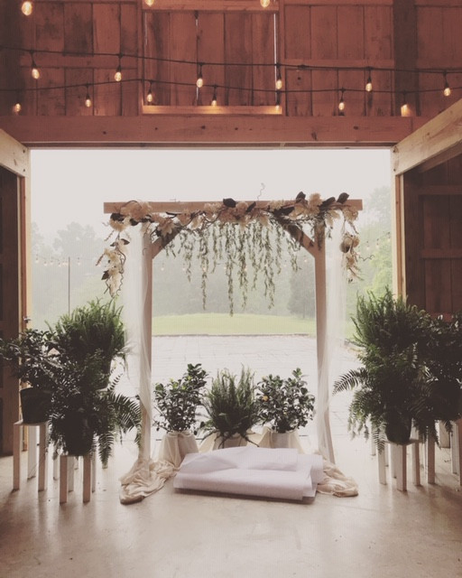 A rainy day wedding