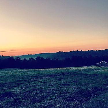 Sunset over the barn