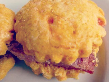 Sweet Potato and Ham Biscuits