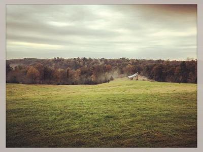 Barn and surrounding field