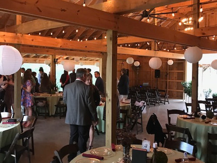 Rainy day wedding and reception