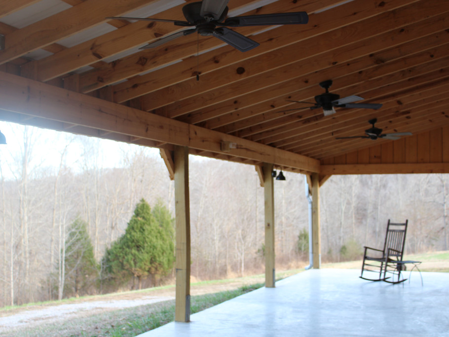 Covered Patio at the Barn