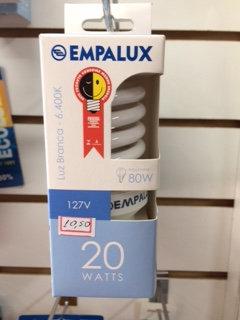 LAMPADA COMPACTA ESPIRAL 20W 127V - EMPALUX