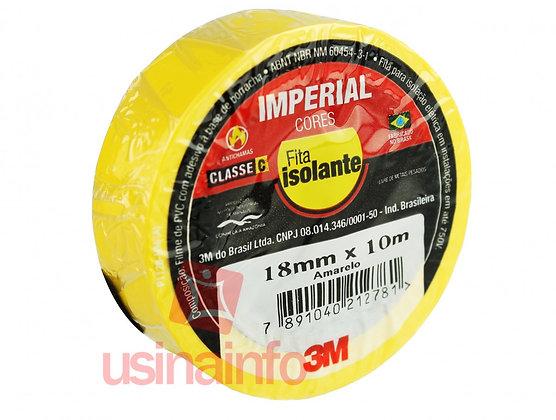 Fita Isolante 18MMX10MT AMARELA IMPERIAL 3M