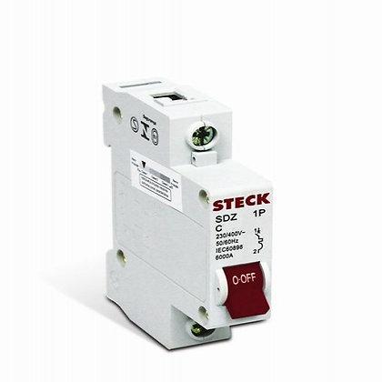 Disjuntor 1P 10A C 3KA 230V - Steck
