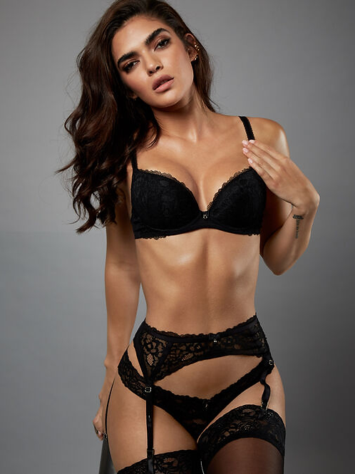 Sexy Lace Plunge Bra Black by AS