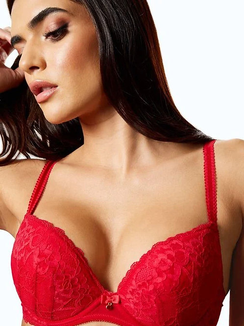 Sexy Lace Plunge Bra Red by AS
