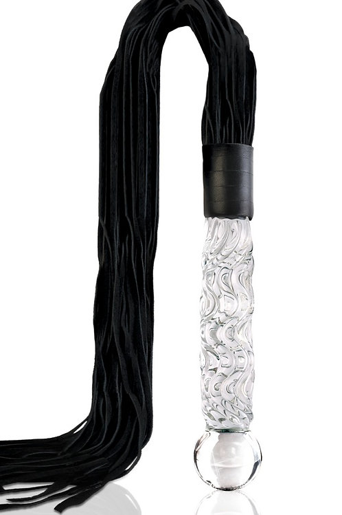 Hand Blow Glass Whip (no 38) by Icicles