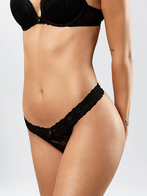 Sexy Lace Demi Thong in Black by AS