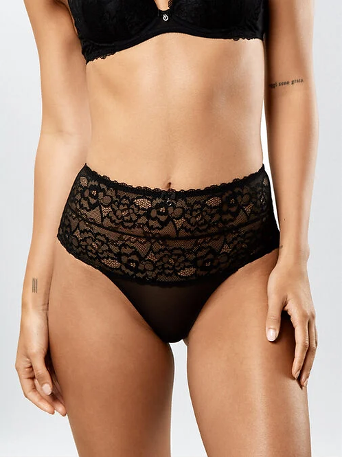 Sexy Lace HW Brief in Black by AS